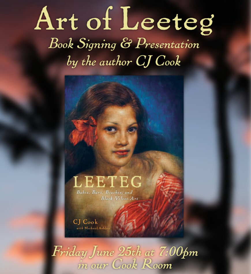 Art of Leeteg - talk and book signing at Trader Vic's, Emeryville, CA on June 25, 2021