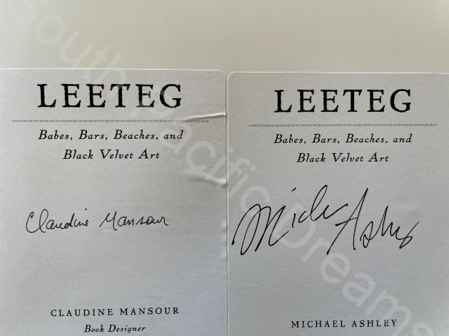 Leeteg Collectors' Edition - signed by the book designer, Claudine Mansour and co-author Michael Ashley