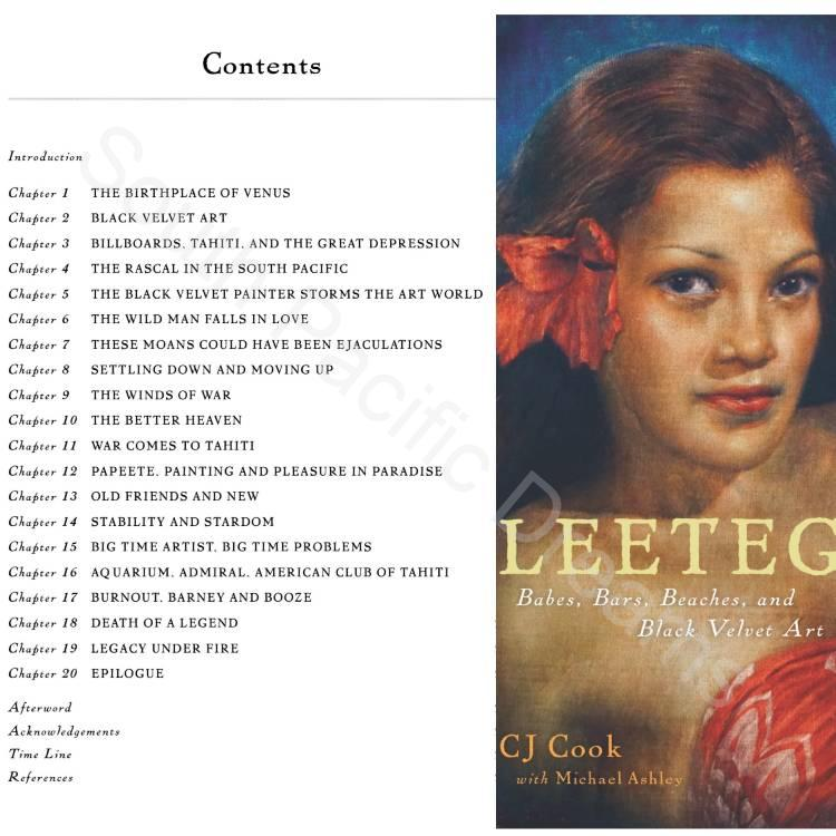 Table of Contents for the book Leeteg by CJ Cook
